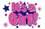 It's a Girl (Stars) Large Flag - 5' x 3'.